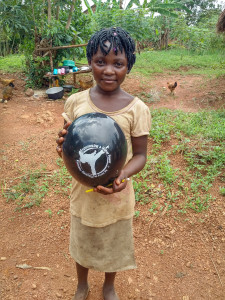 Africa girl with KCMA balloon